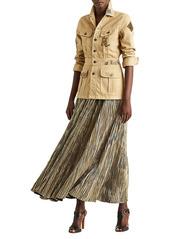 Ralph Lauren Isla Metallic Midi Skirt