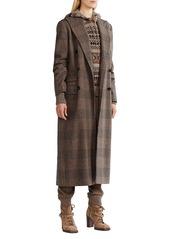 Ralph Lauren Isla Plaid Wool Coat