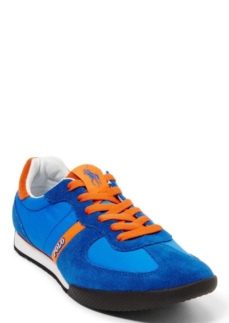 Ralph Lauren Jacory Nylon-Suede Sneaker
