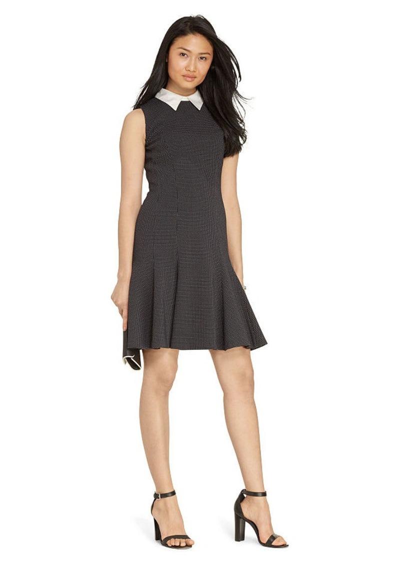 Ralph Lauren Jacquard Collared Dress