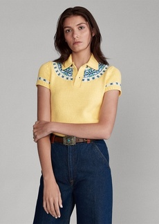 Ralph Lauren Jacquard-Knit Sweater Polo