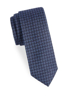 Ralph Lauren Jacquard Pine Check Silk Tie