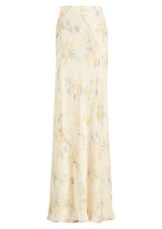 Jacqueline Floral Silk Skirt
