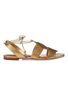 Ralph Lauren Jaida Metallic Leather Sandal