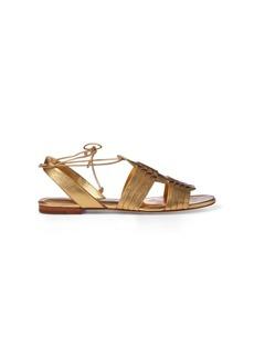 Ralph Lauren Jaida Metallic Leather Sandal