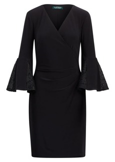Ralph Lauren Jersey Bell-Sleeve Dress