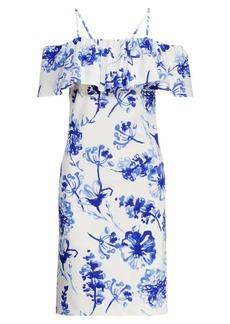 Ralph Lauren Jersey Cold-Shoulder Dress