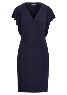 Ralph Lauren Jersey Flutter-Sleeve Dress