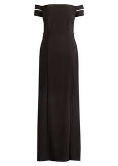 Ralph Lauren Jersey Off-the-Shoulder Gown
