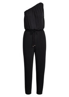 Ralph Lauren Jersey One-Shoulder Jumpsuit