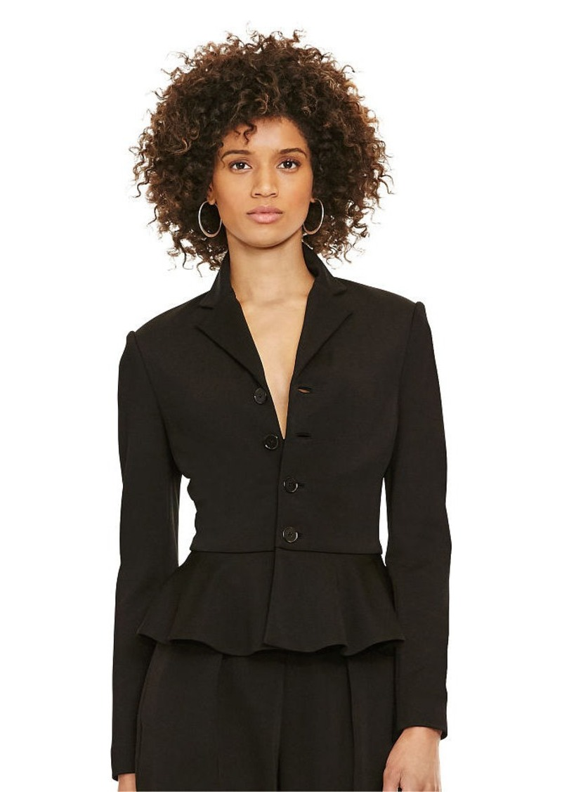 Ralph Lauren Jersey Peplum Jacket