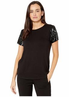 Ralph Lauren Jersey Sequin-Sleeve Shirt