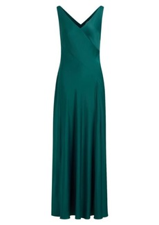 Ralph Lauren Crepe Sleeveless Gown
