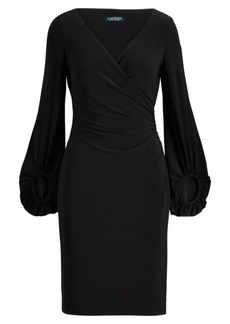 Ralph Lauren Jersey Surplice Dress