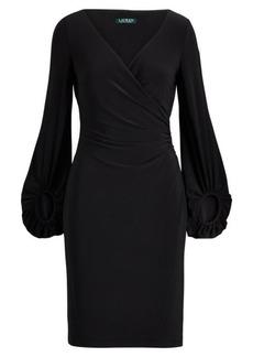 Ralph Lauren Jersey Surplice Dress