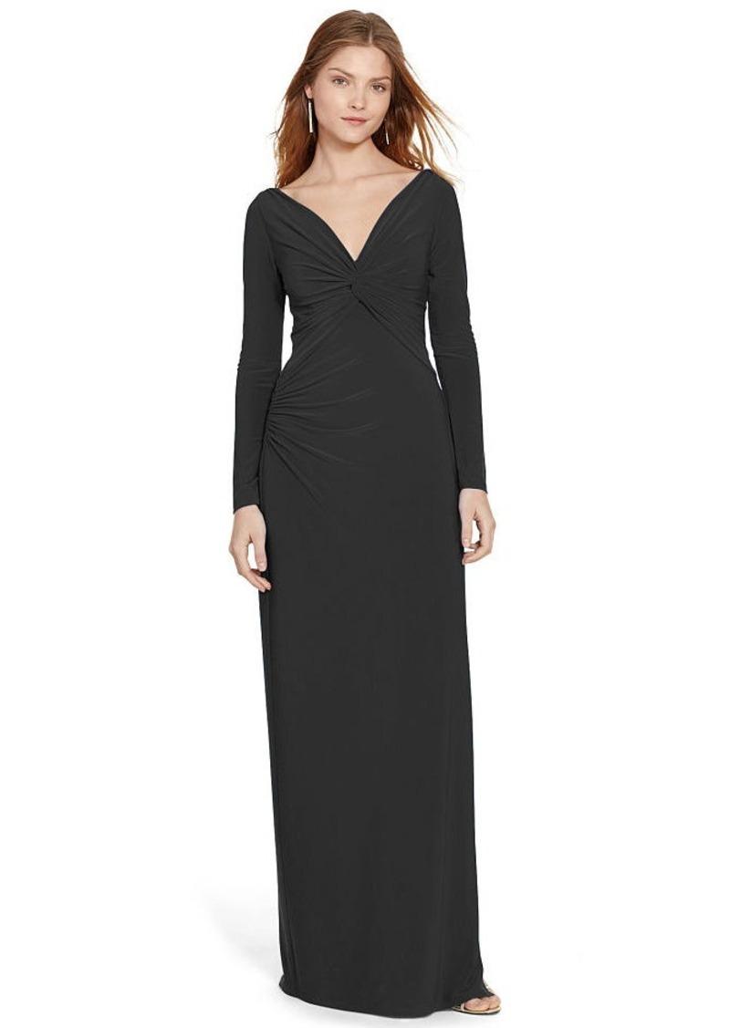 Ralph Lauren Jersey V-Neck Gown