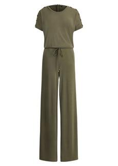 Ralph Lauren Jersey Wide-Leg Jumpsuit