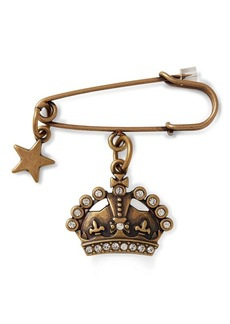 Ralph Lauren Jeweled Crown Pin