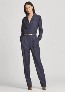 Ralph Lauren Judson Striped Wool Jumpsuit