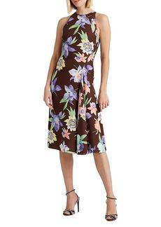 Ralph Lauren Kaelan Floral Silk Day Dress