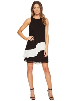 Ralph Lauren Kaleighna Two-Tone Georgette Dress