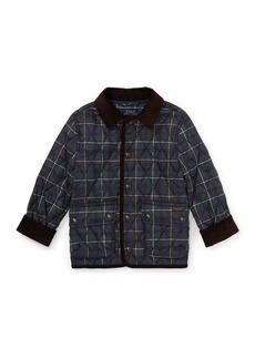Ralph Lauren Kempton Quilted Plaid Jacket  Size 2-4