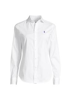 Ralph Lauren: Polo Kendall Long-Sleeve Button-Front Blouse
