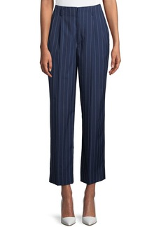 Ralph Lauren Kenley Striped Wool Wide-Leg Pants