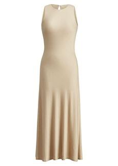 Ralph Lauren Keyhole-Back Midi Dress