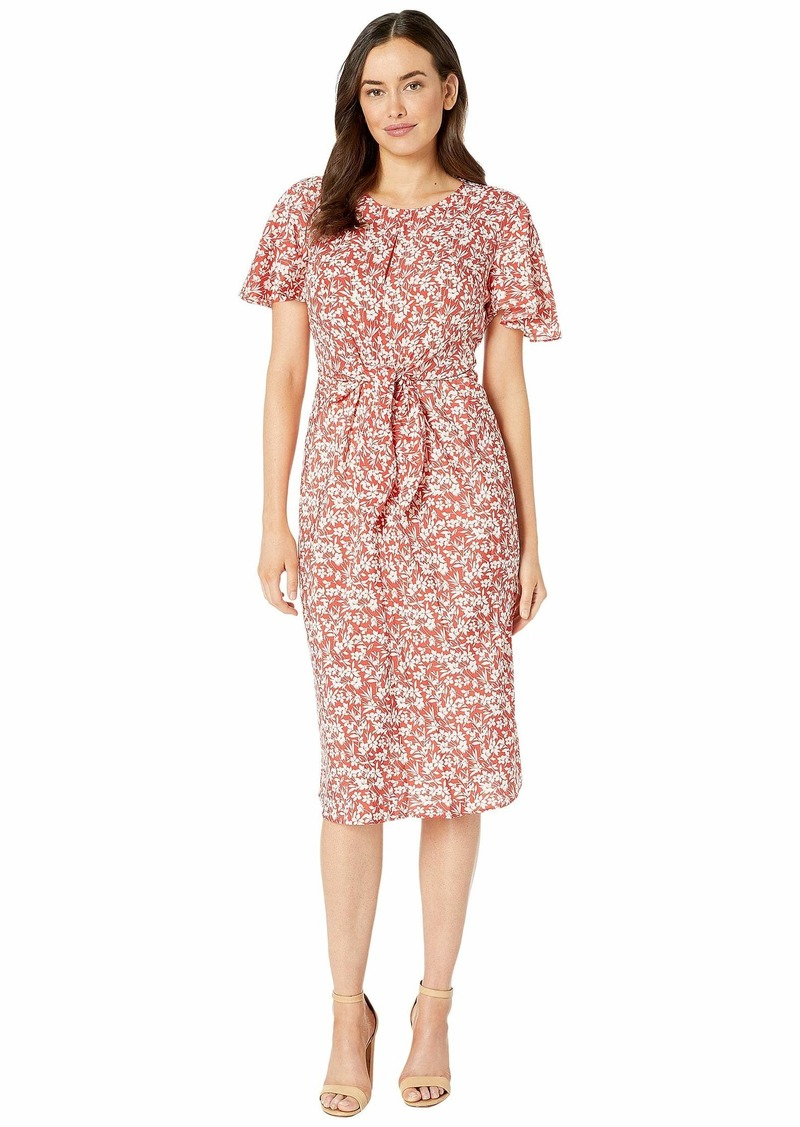 Ralph Lauren Keyhole Crepe Dress