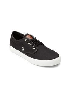Ralph Lauren Kid's Leather Trim Low-Top Sneakers