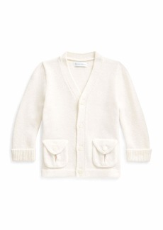 Ralph Lauren Kid's Merino Wool V-Neck Sweater Cardigan  Size 6-24 Months