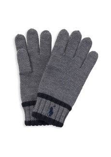 Ralph Lauren Kid's Signature Merino Wool Gloves
