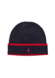 Ralph Lauren Kid's Wool Skull Hat