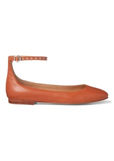 Ralph Lauren Kinsley Leather Ballet Flat