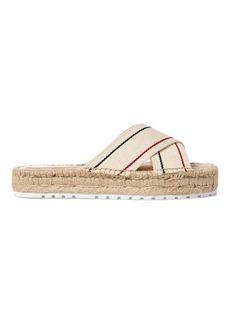 Ralph Lauren Kit Webbed Cotton Espadrille