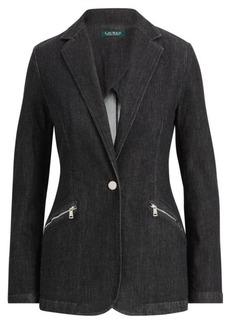 Ralph Lauren Knit Denim Blazer