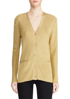 Ralph Lauren Knit Lurex Cardigan Sweater