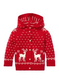 Ralph Lauren Knit Reindeer Hooded Sweater