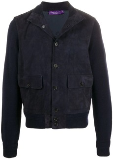 Ralph Lauren knitted jacket with suede panelling