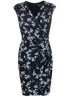 Ralph Lauren knot detail floral-print dress