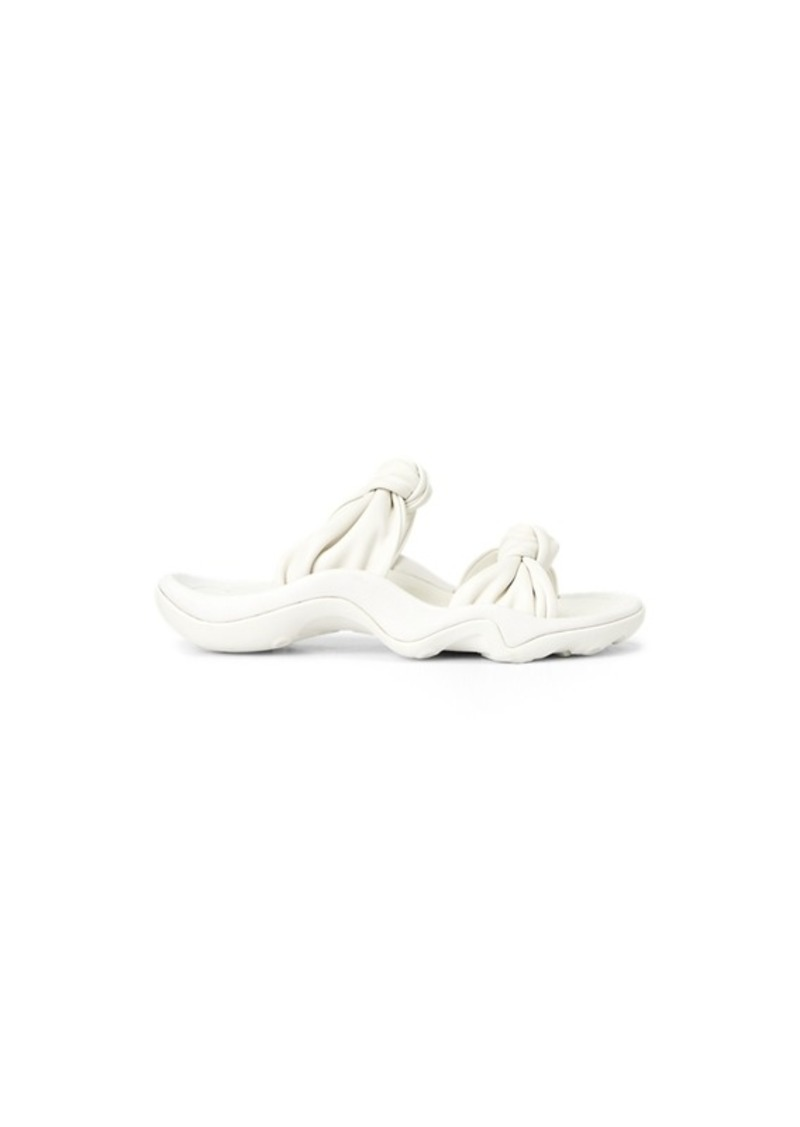 Ralph Lauren Knotted-Strap Leather Sandal