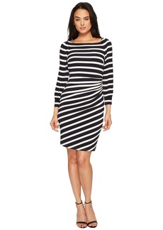 Ralph Lauren Kynara Tug Boat Stripe Matte Jersey Dress