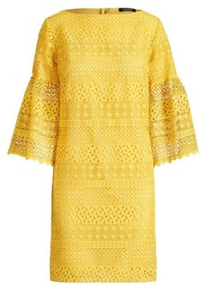 Ralph Lauren Lace Bell-Sleeve Dress