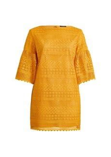 Ralph Lauren Lace Bell-Sleeve Dress