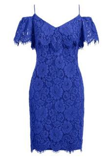 Ralph Lauren Lace Cold-Shoulder Dress