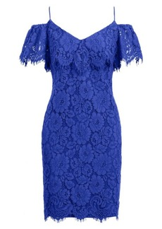Ralph Lauren Lace Cold-Shoulder Dress