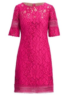 Ralph Lauren Lace Elbow-Sleeve Dress