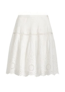Ralph Lauren Lace-Embroidered Skirt