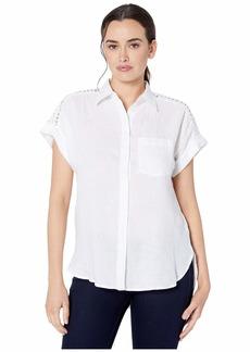Ralph Lauren Lace Inset Dolman Sleeve Shirt